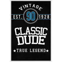 Classic Dude 90th Birthday Wall Art Poster - $6.44+