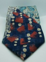 Oscar de la Renta Abstract Red, Blue, Green 100% Silk Mens Necktie Made ... - $16.03