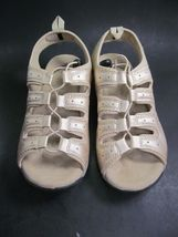 Gold Size 11 Comfort Leona Shoes Comfortview Tie Womens M Bungee Sandals 5Rwq04wE