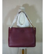 NWT Tory Burch Imperial Garnet McGraw Chain Slouchy Shoulder Tote $498 - $443.52