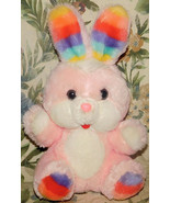 Commonwealth of Pennsylvania Rainbow Ears Bunny Rabbit Stuffed Plush Easter Pink - $46.74