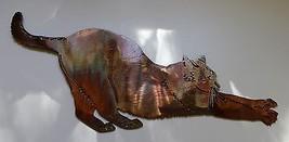 Stretching Kitty Metal Wall Art Decor - $18.99
