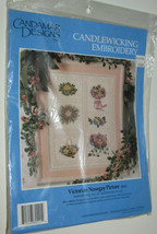 Victorian Nosegay Picture Candlewicking Embroidery Kit New Pansy Rose 14... - $14.54