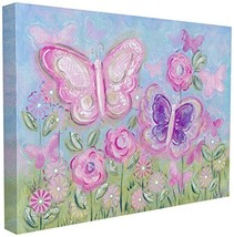 The Kids Room by Stupell Pastel Butterflies in a Garden Wall Plaque, 16 ... - $57.69