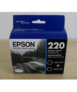 OEM Genuine Epson 220 Twin Pack Black Ink Cartridges T220120-D2 Exp 04-2022 - $19.79