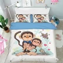 3D Monkeys 314 Bed Pillowcases Quilt Duvet Cover Set Single Queen King Size AU - $90.04+
