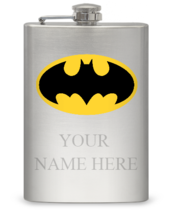 8 oz Personalized Hall of Justice Flasks - $16.22