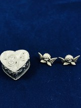 JJ Angel Earrings—pewter—with Brooch - $7.91
