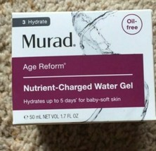Sealed In Box Murad Nutrient Charged Water Gel 1.7 Fl. Oz. Authentic And Fresh - $53.45