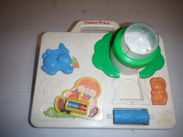"1988 FISHER PRICE # 1015 BABIE'S CRIB TOY W SUCTION CUPS 10"" x 9"" - $10.43"