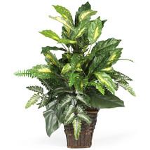 Mixed Greens w/Wicker Silk Plant - $55.50
