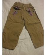 Brown Corduroy Pants With Red Detailing 100% Cotton Size 3X Souri Mini  - $9.98