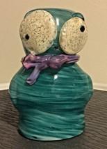 Blown Glass Art Glass Owl - $13.54