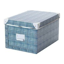 IKEA FJÄLLA Storage Box with Lid, White, Blue, 2-Pack, 804.325.47 - NEW  - £23.13 GBP