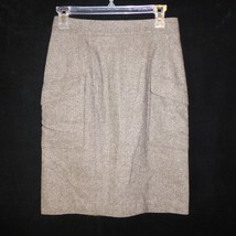 Ann Taylor Wool Brown Knee Length Lined Pencil Skirt Size - 2 - $14.81