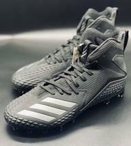 NEW Adidas Freak X Carbon Mid Black Grey Football Cleats CG4404 Size 9 - $59.39