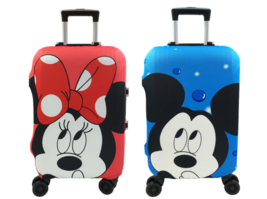 Minnie And Mickey Pattern Travel Suitcase Protective Cover, Elastic Dust... - $15.84+