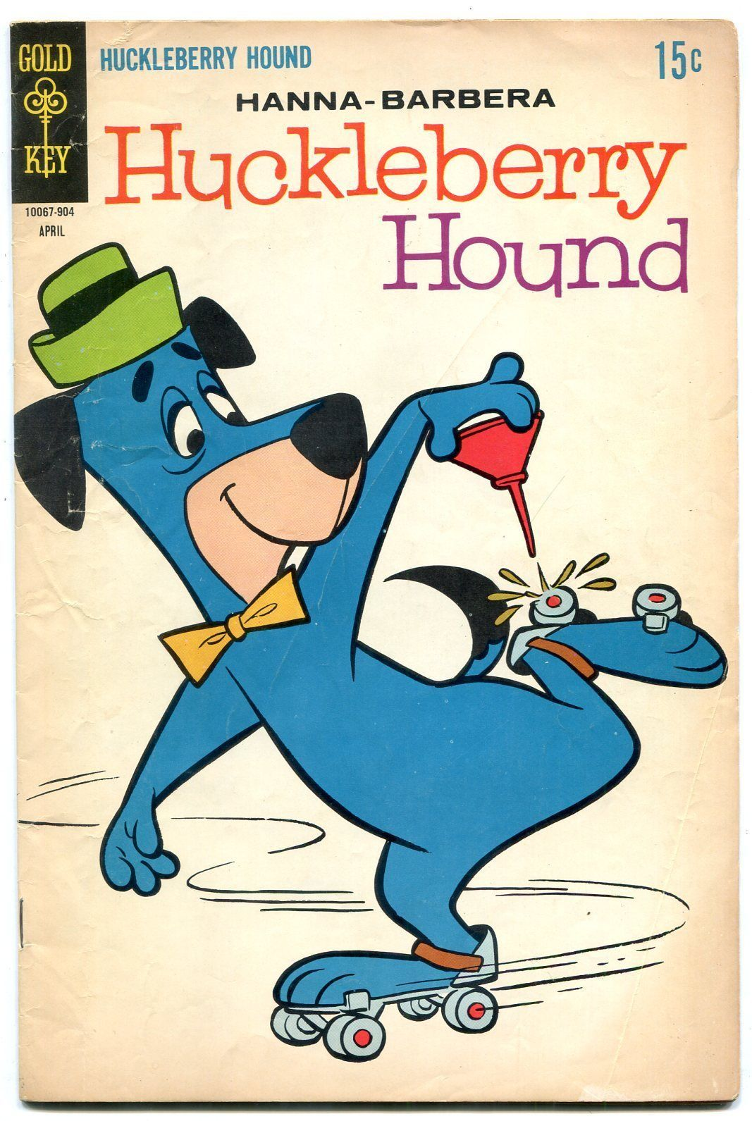 HUCKLEBERRY HOUND #37 1969-GOLD KEY COMICS ROLLER SKATE VG