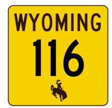 Wyoming Highway 116 Sticker R3422 Highway Sign - $1.45+