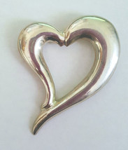 Vintage Large TAXCO STERLING SILVER Chunky Free Form HEART Pin Brooch - $37.98