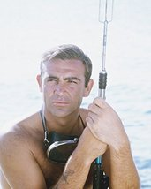Sean Connery in Thunderball bare chested shirtless with spear gun James Bond - $69.99
