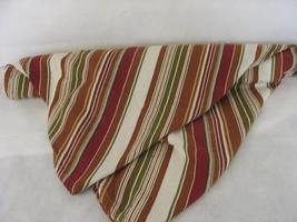 Oval Striped Tablecloth 64 x 59 Earthtone Stripes - $11.87