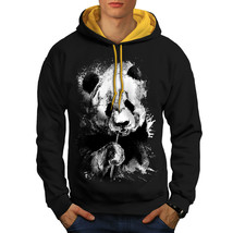Eating Panda Face Sweatshirt Hoody Bamboo Eater Men Contrast Hoodie - $23.99+