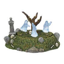 Dept 56 Halloween Village Animated Lighted GRAVEYARD GHOST DANCE #6001737 - £69.71 GBP