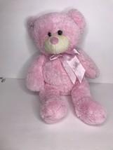"Animal Adventure Pink Teddy Bear 2013 Stuffed Plush 12"" Bow  - $43.53"