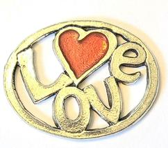 LOVE Fine Pewter Pendant Approx. 1-1/2 inches wide image 7