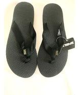 Women's Teva Classic Flip Flops Black Rubber sole & soft EVA footbed 11M - $28.00
