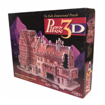 Puzz 3D Bavarian Mansion Puzzle By MB Complete Avg Difficulty Pre Owned Nice - $16.77
