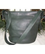 Coach Sonoma Small Bucket Zip Natural Grain Leather Shoulder Bag 4907 Gr... - $37.00