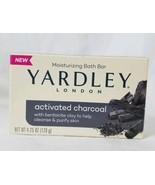 1 Bar Yardley London Activated Charcoal Moisturizing Bath Bar Soap - $3.99
