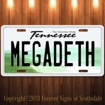 Megadeth Heavy Metal Band Tennessee Aluminum Vanity License Plate - $12.82