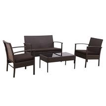 4 pcs Patio Rattan Wicker Furniture Set - $222.74