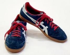 Men's Asics ONITSUKA TIGER Tokuten Lace Up Sneaker Red White Blue Size 1... - $69.86