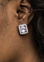 Backstage Broadway Purple Earring - $5.00
