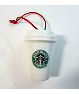 2006 Starbucks Coffee Holiday to Go White Siren Mermaid Cup Christmas Or... - $11.50