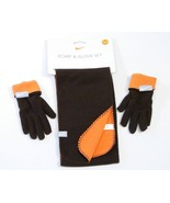 Nike Boys Brown & Orange Fleece  Gloves & Scarf  Youth Size 8-20 NWT - $18.55
