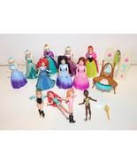 Disney Princess Magiclip Magic Clip Dolls Polly Pocket Princess Set Lot - $39.99