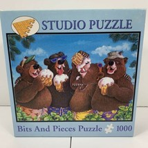 Studio Puzzle Bits And Pieces 1000 Piece Suds N Buds Jeffrey Severn Bears Beer - $27.71