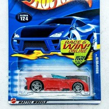 2002 Hot Wheels Blue Card Monoposto Red Black Base w PR5 Collector #124 New - $5.82