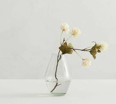 "NEW! Pottery Barn Handcrafted Recycled BUD Glass Vase 6"" NEW $29.50 - $15.79"