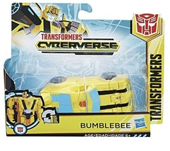 Transformers Cyberverse Attackers: 1-Step Changer Bumblebee Action Figur... - $14.45