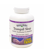 (New) Tranquil Sleep by Natural Factors - 120 Chewable Tablets Exp 10/2022 - $41.37