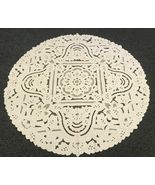 """88"""" Round Beige 100% Cotton Cutwork Embroidered Lace Tablecloth ELN06 - $130.17"""