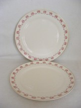 "2 Limoges USA Charmaine 10"" Dinner Plate Pink Rose Swags 22 K gold - $19.95"