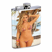 Belize Pin Up Girls D10 Flask 8oz Stainless Steel Hip Drinking Whiskey - $12.82