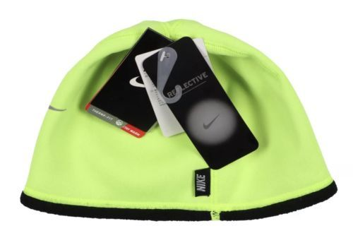 89575eff717c4 12. 12. NIKE Therma-FIT Reflective Swoosh Beanie Size Boys Youth Volt Black  ...